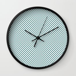 Teal Polka Dots Wall Clock