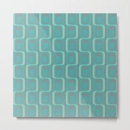 Mid Century Modern Abstract Pattern Metal Print
