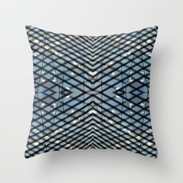Blue architecture abstract 3 Throw Pillow