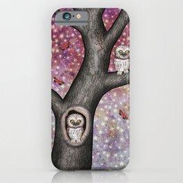 enchanted owls, moths, stars iPhone Case