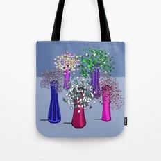 Cascade Flowers Tote Bag