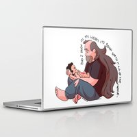 steven universe Laptop & iPad Skins featuring Steven Universe: Greg and Steven by Liv Moy