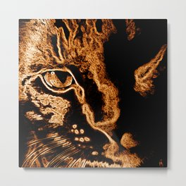 Wilfred -wonder cat! Metal Print