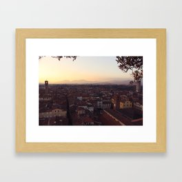 Lucca Sunsets Framed Art Print