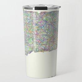Connecticut map Travel Mug