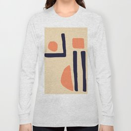 Coral and Blue Long Sleeve T-shirt