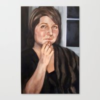 tina fey Canvas Prints featuring Tina by m i c h a e l