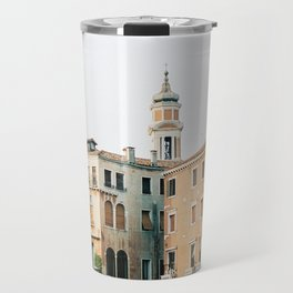 Travel photography | Architecture of Venice | Pastel colored buildings and the canals | Italy Travel Mug