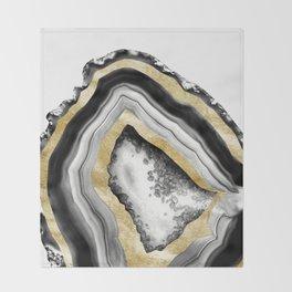 Agate Gold Foil Glam #1 #gem #decor #art #society6 Throw Blanket