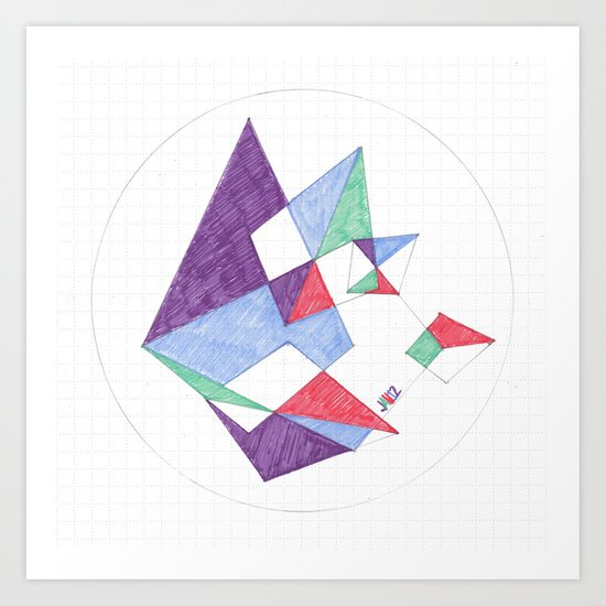 Kite-netic #1 Art Print