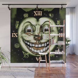 Black Cat 13 Halloween Clock Wall Mural