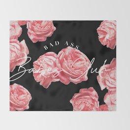 bad ass babes club Throw Blanket
