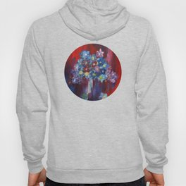 Blue flower Hoody