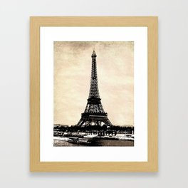 VINTAGE EIFFEL TOWER IN SEPIA Framed Art Print