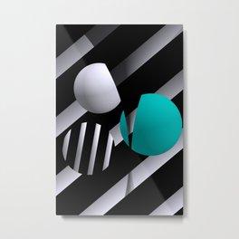 go turquoise -6- Metal Print