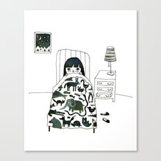 Animal Fear Canvas Print
