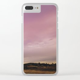 Panoramic Meadow Sunset Clear iPhone Case