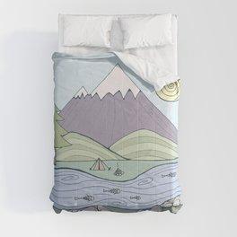 Camping in the Forest Comforters