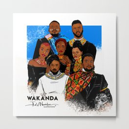 "BLACK PANTHER ""WAKANDA FOREVER"" Metal Print"