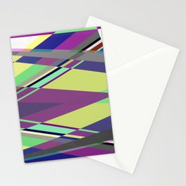 Crossed Paths - abstract, geometric, intersecting pastel shapes Stationery Cards