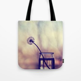 dandelion morning Tote Bag