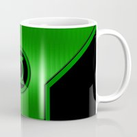 green lantern Mugs featuring Green Lantern by MiliarderBrown