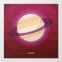 saturn Canvas Prints featuring SATURN by Melissa Pierce