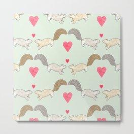 Squirrel Love Metal Print