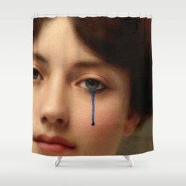 The blue tear Shower Curtain