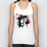beethoven Tank Tops featuring Beethoven FU by viva la revolucion