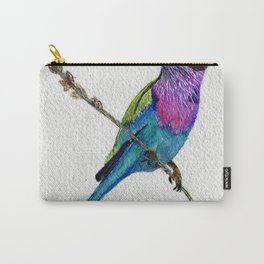 Lilac Breasted Roller by Maureen Donovan Carry-All Pouch