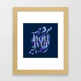 Bon Iver Framed Art Print