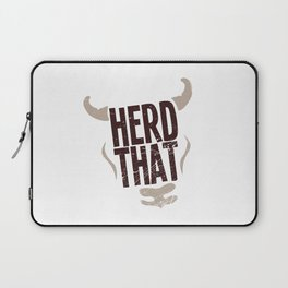 Cow Herd That Cattle Gift Laptop Sleeve