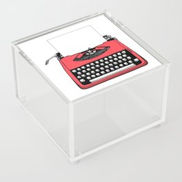 Vintage Red Typewriter (Write Your Own Message) Acrylic Box