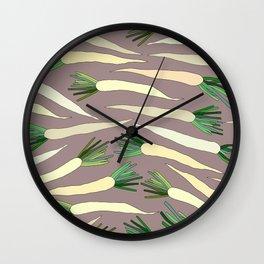 Daikon Radish Carrot Roots Wall Clock