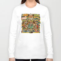 beastie boys Long Sleeve T-shirts featuring Beastie Boys Wow! Wow! Wow! Remix Tape Cover by Jeff Drew Pictures