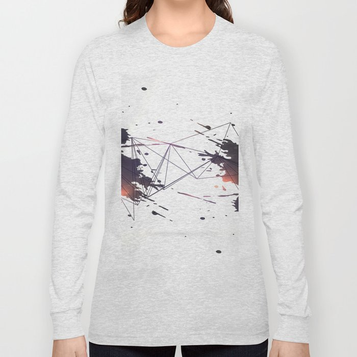 Geometric splatter Long Sleeve T-shirt