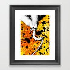 Two Headed Snake Framed Art Print