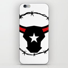 Texas Longhorn Barbed Wire Icon iPhone Skin