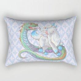 Baby Fenrir and Jörmungandr Rectangular Pillow
