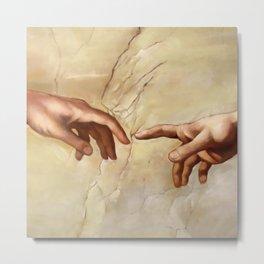 "Michelangelo ""Creation of Adam""(detail) Metal Print"