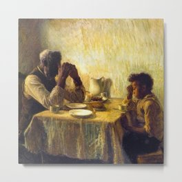 African American Masterpiece 'The Thankful Poor' by Henry Ossawa Tanner Metal Print