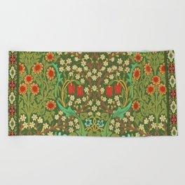 Green Garden Beach Towel