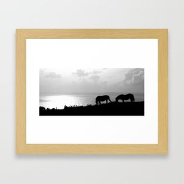 Overlooking the bay. Framed Art Print