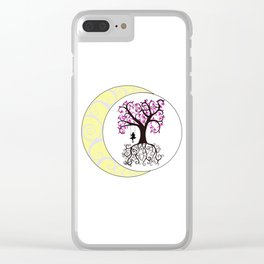 Swirls and a Swing Clear iPhone Case