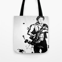 daryl dixon Tote Bags featuring Daryl Dixon by Black And White Store