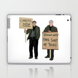 """DOWN WITH THIS SORT OF THING!..careful now"" Laptop & iPad Skin"
