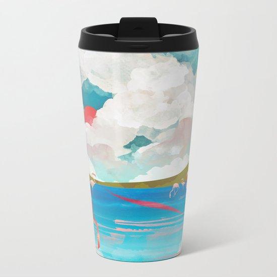 Flamingo Dream Metal Travel Mug
