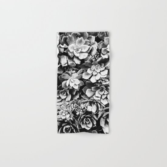 Black And White Plants Hand & Bath Towel
