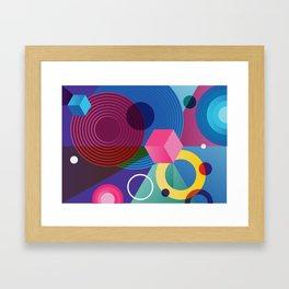GEOMETRIC GROOVE 2 Framed Art Print